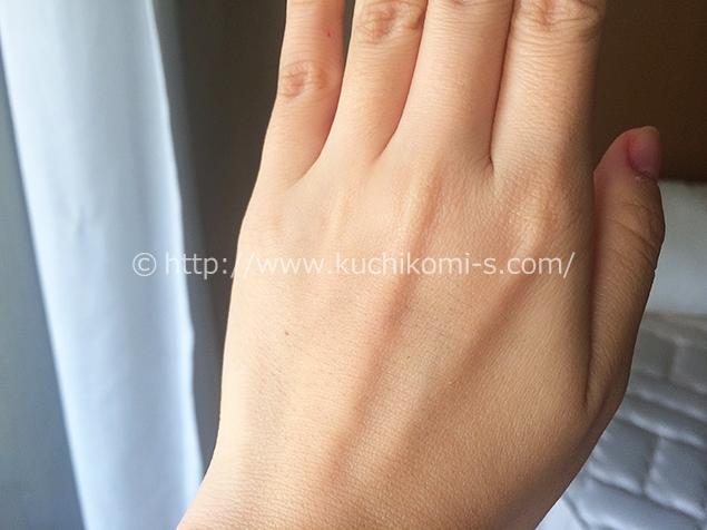 手の甲と指1ヶ月前お手入れ「手の甲も指もツルツルで満足」